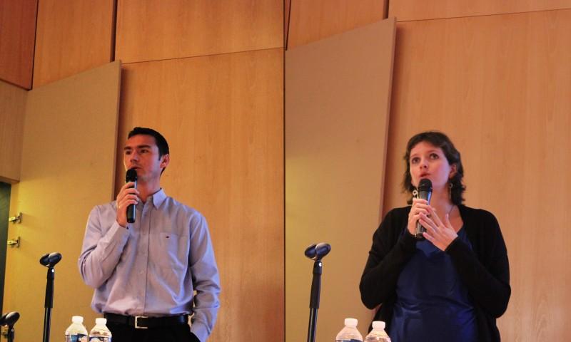 SPIE EST : Marion Blanchard, responsable d'affaires (diplômé GCE 2010) et Olivier Strub, responsable d'activités