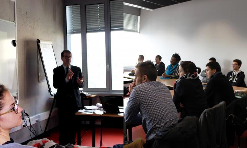 atelier échanges en anglais sur l'usine du Futur avec Etienne Gancel, Industrial engineering director chez HAGER group