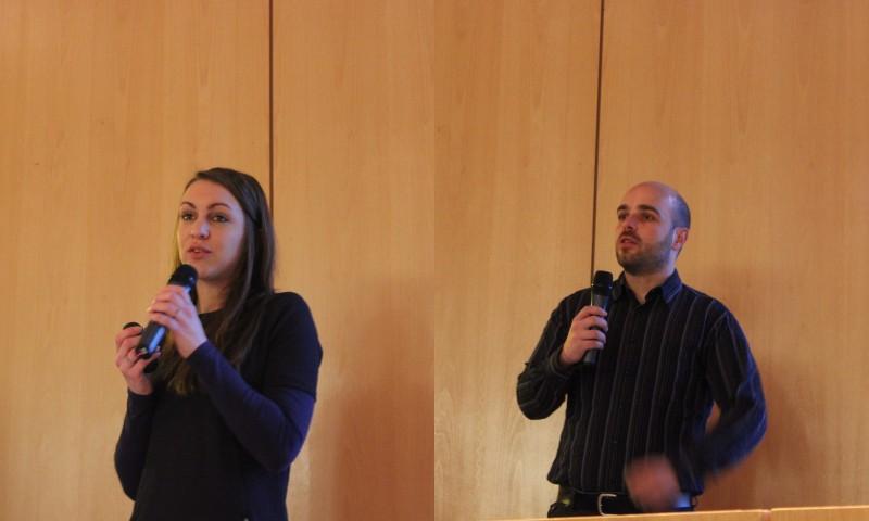 SOCOMEC avec Florence Bleger, chargée de recrutement et Aymeric Dorkel, Power Electronics Developpement Manager (diplômé GE)