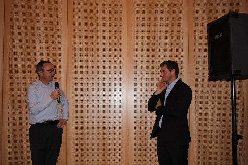 Bernard Flament, enseignant et Yves Lichtenberger, directeur marketing De Dietrich